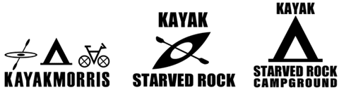 kayak tour, kayaking, camping illinois, kayak rental Logo